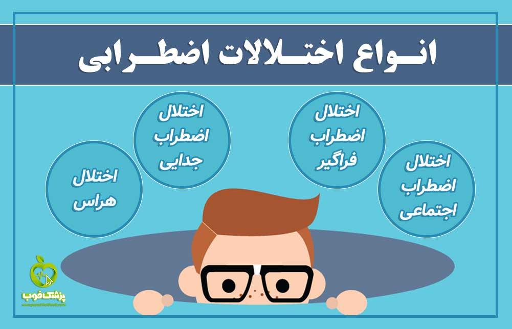 انواع اختلالات اضطرابی