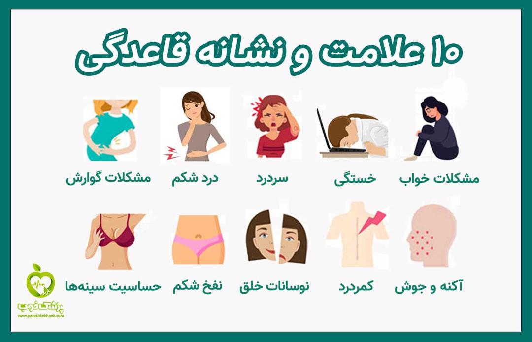 10 علائم شروع قاعدگی